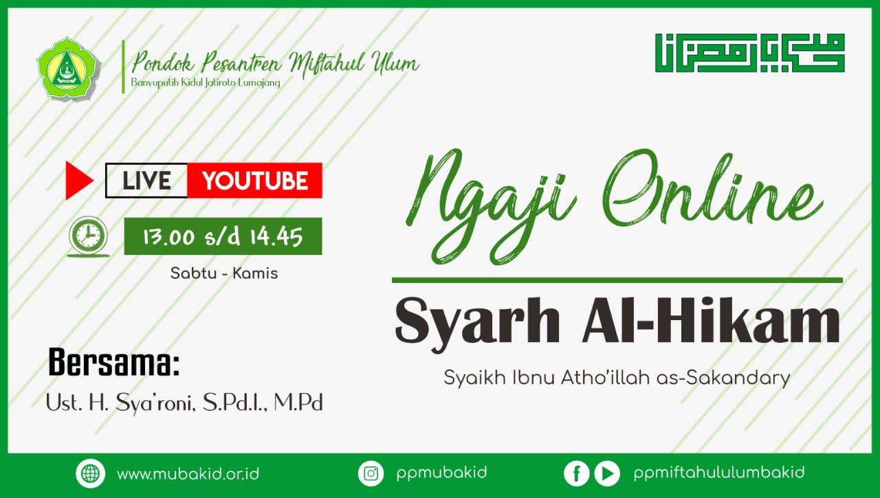 Ngaji Online bersama Kepala Madrasah (9 Ramadhan 1441)