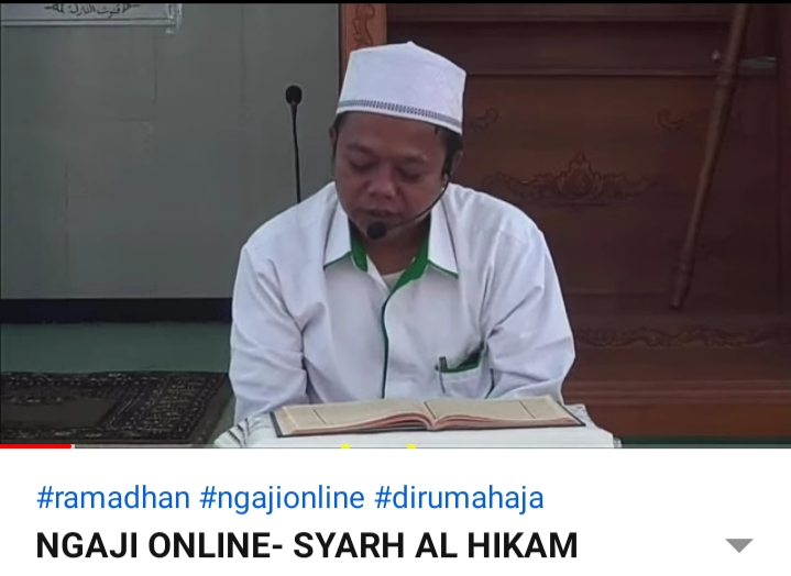Ngaji Online bersama Kepala Madrasah (11 Ramadhan 1441 H)